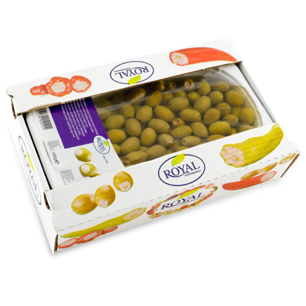 Green Olives Stuffed with Cheese in Oil