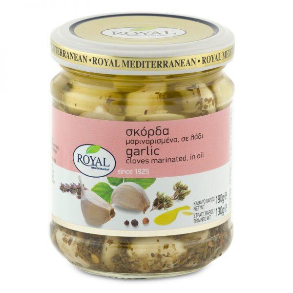 Garlic Cloves Marinated in Oil
