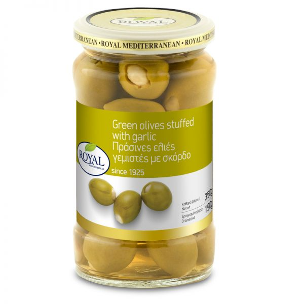 Green Olives Stuffed with Garlic