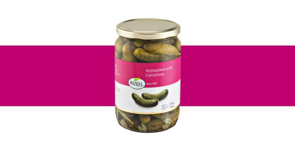 Cornichons, in sweet and sour vinegar brine